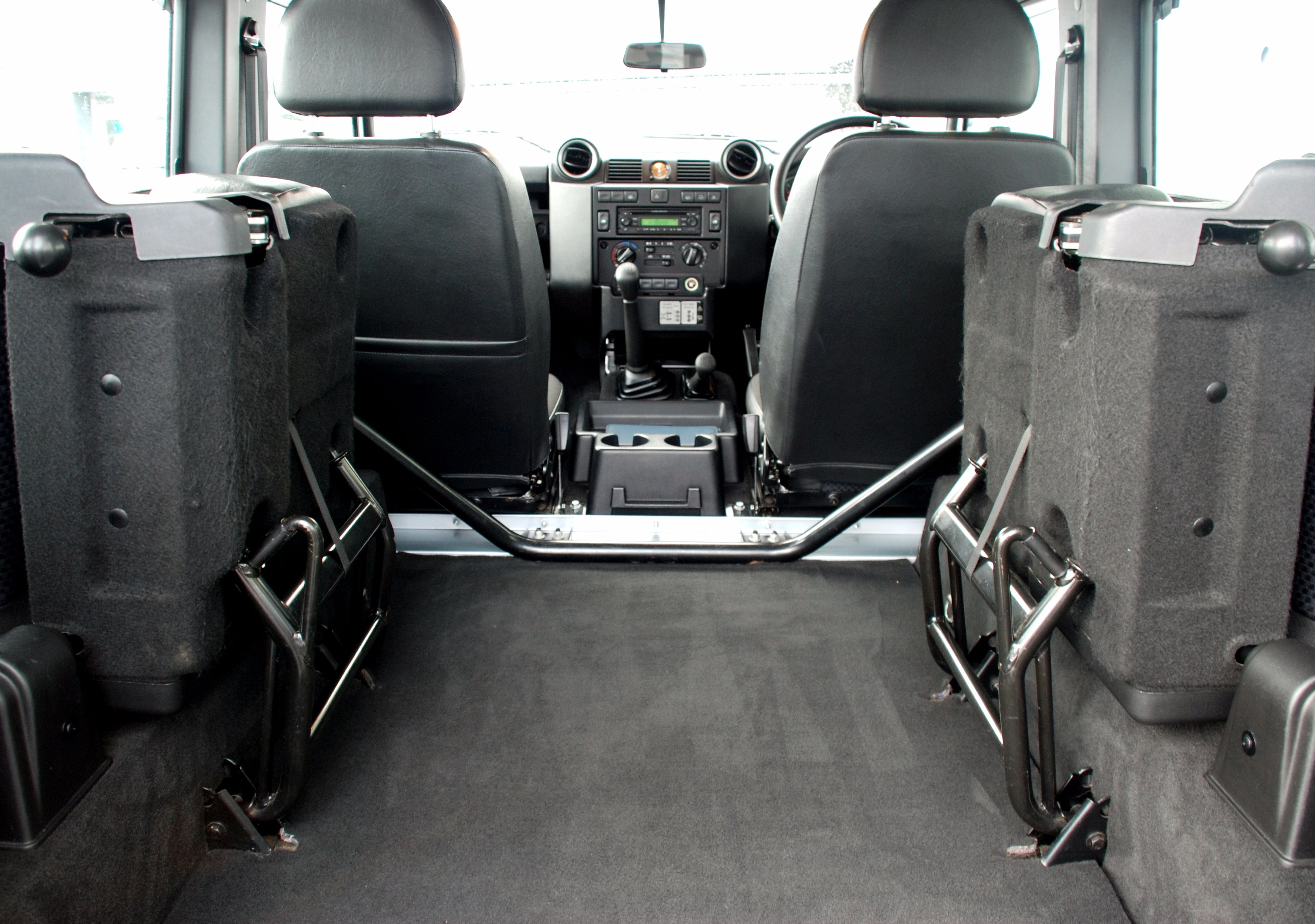 Removable Rear Seat Conversion for Defender vehicles