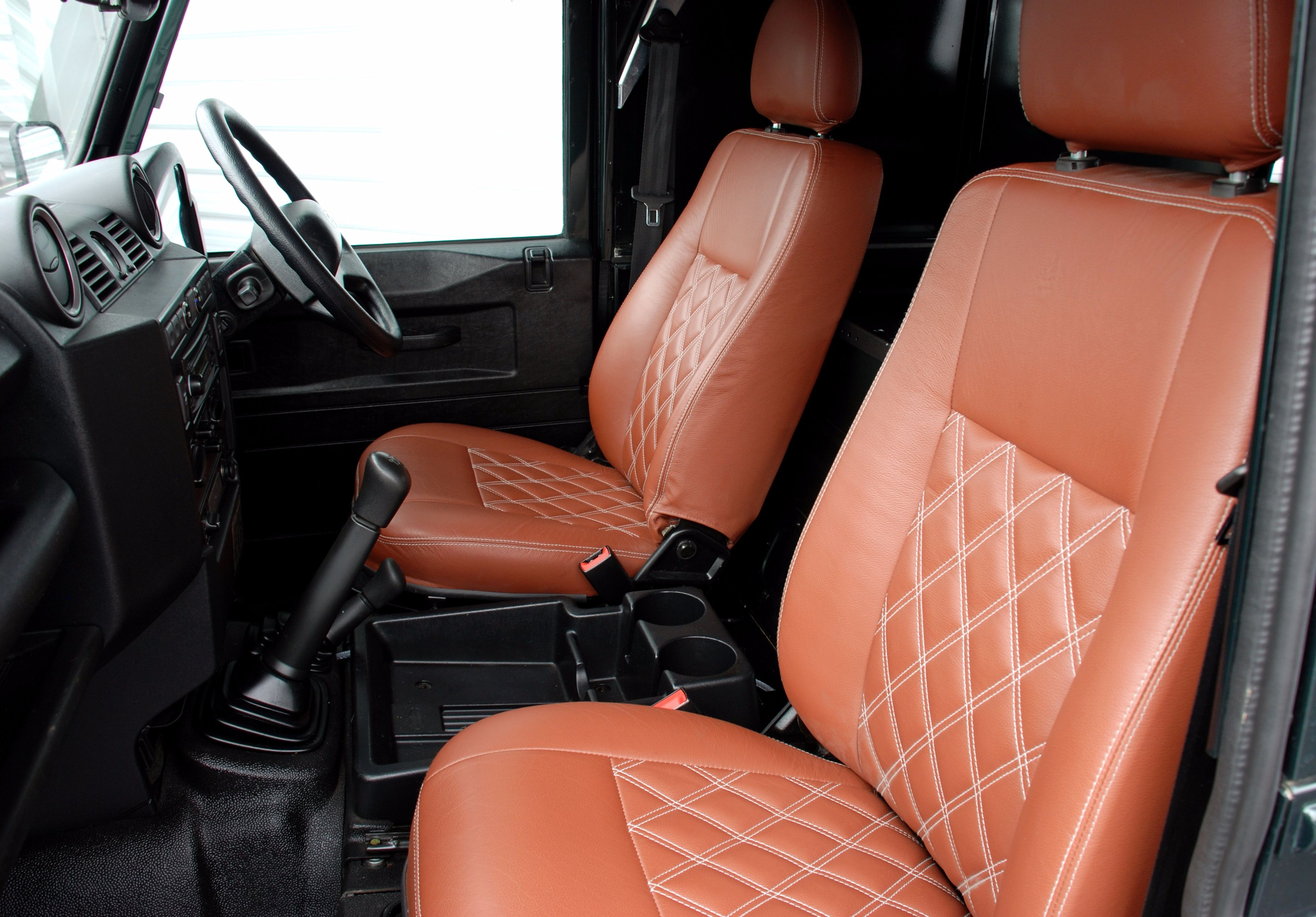 Heated Front Seat and Leather Upgrade for Defender Vehicles